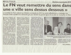 Lancement de la Reconquête de Metz - article du Républicain Lorrain, 29 avril 2013