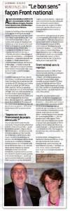 Article de La Semaine, 02/05/13