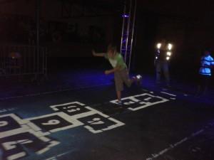 Marelle fluorescente à la Nuit Blanche 2011
