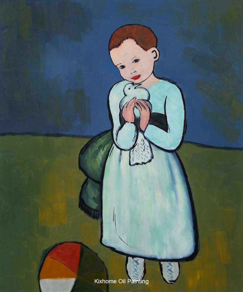 Child-Holding-a-Dove-by-Picasso