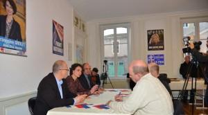 Interview de Françoise Grolet, Thierry Gourlot par le Républicain Lorrain, La semaine, France Bleu, Mirabelle TV
