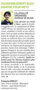 Tribune de Françoise Grolet dans Metz Mag de juin 2014