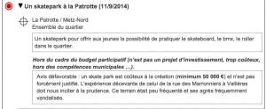 Proposition pour le budget participatif - Réponse de la Mairie