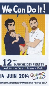 Tract Gay pride 2014 à Metz