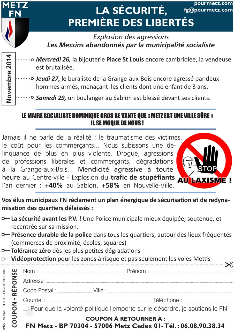 Insécurité à la Grange-aux-Bois, au Sablon, à Metz Centre...