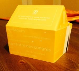 Carte de voeux 2015 à assembler de Metz