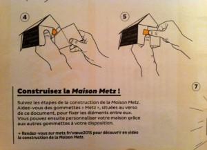 Mode d'emploi de la carte de voeux 2015 à assembler de Metz