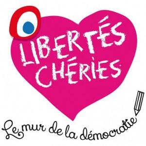 Libertés Chéries avec la cocarde anglaise à la place de la cocarde Française...