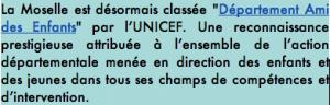 """La Moselle classée """"Département ami des enfants"""". Mais pas de la pratique musicale !"""