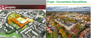 Projet Desvallières. vue globale