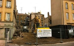 Maisons rue Haute Seille détruites
