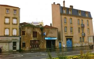 Maisons rue Haute Seille avant leur destruction