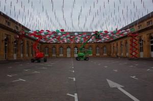 Parapluies, marché couvert de Metz