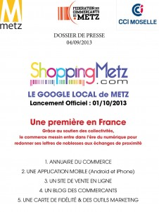 "Dossier de presse shoppingmetz.com ""Le Google local de Metz"""