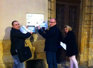 Le week-end du 7 février 2016, le FN de Metz  à informé les habitants du quartier Outre-Seille avec le tract visible ci-dessous.