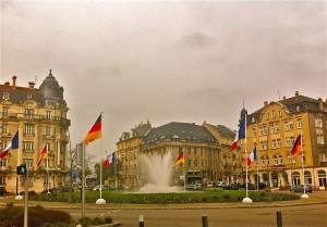 Place Mondon à Metz, avril 2016