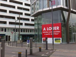 Des locaux désespérément vides en face du Centre Pompidou Metz