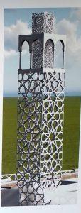 Minaret de 33 m de haut de la futur mosquée de Metz