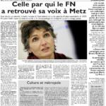 """""""Françoise Grolet : celle qui a redonné de la voix au FN à Metz"""""""