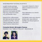 """Tribune RN dans Metz Mag : """"Demain, avec vous, citoyens de bon sens !"""""""