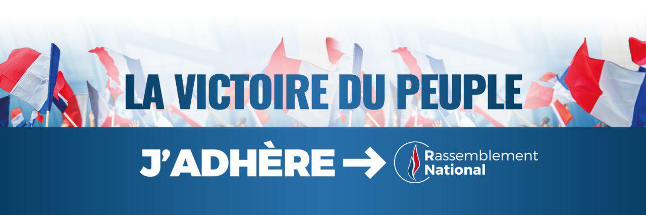 Adhérez au Rassemblement National premier parti de France