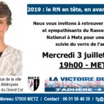 Réunion mercredi 3 juillet : amis du RN, soyez les bienvenus à Metz !