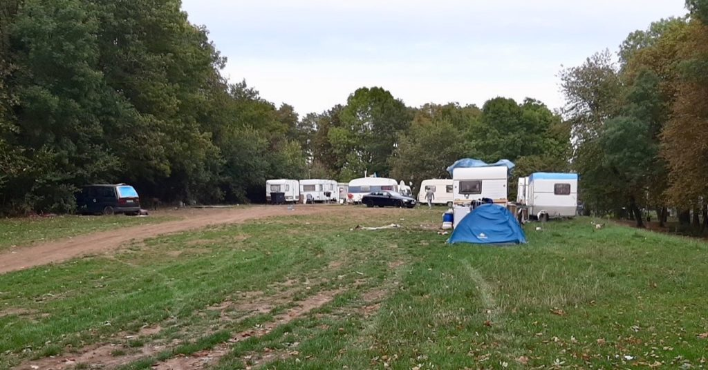 Caravanes campement illégal rom petit bois Borny