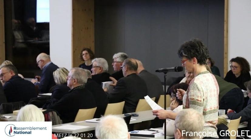 Budget 2020 de Metz Métropole : intervention de Françoise GROLET
