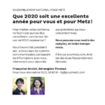 Que 2020 soit une excellente année pour vous et pour Metz !