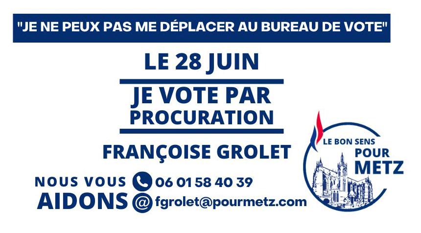 Donnez procuration pour les élections municipales de Metz 2020