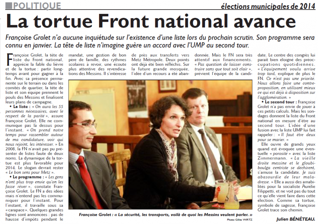 Conférence de presse de Françoise Grolet - 11 décembre 2013