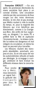 Proposition de Françoise Grolet à propos de stransports à la Grange-aux-Bois