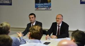 Thierry-Gourlot-et-Florian-Philippot répondent aux questions de la presse 1er février 2014
