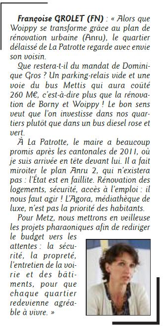 Quartiers : Patrotte et rénovation urbaine Républicain Lorrain 9 février 2014