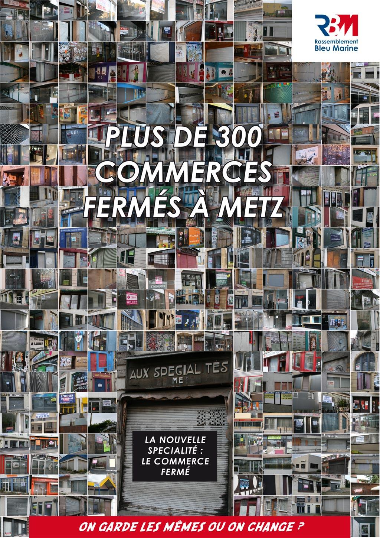 Metz, plus de 300 commerces fermés