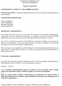 Amendement au point n°4 - Metz Métropole 2 juin 2014