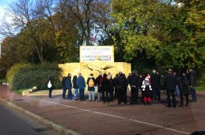 Le groupe politique Basta profane le Monument aux Morts de de Metz