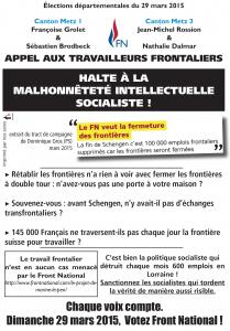 Réponse du Front National de Metz aux mensonges socialistes