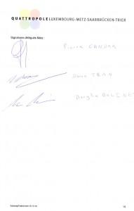 Procès-verbal de l'assemblée générale du Quattropole. 3 élus présents sur 10 alors que le maire a refusé la présence du Front National