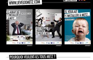 """Campagne de publicité : """"Je veux Metz"""" !"""