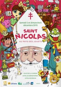En 2015 le Saint Nicolas arbore une croix de Lorraine