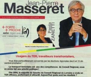 Un sondage auprès des usagers sur la ponctualité des TER Lorraine, chiche M. Masseret ?