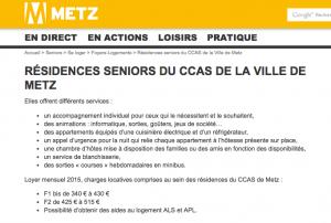 Offre foyers logement CCAS site Metz