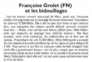 Murmures politiques : Françoise Grolet et les bidouillages