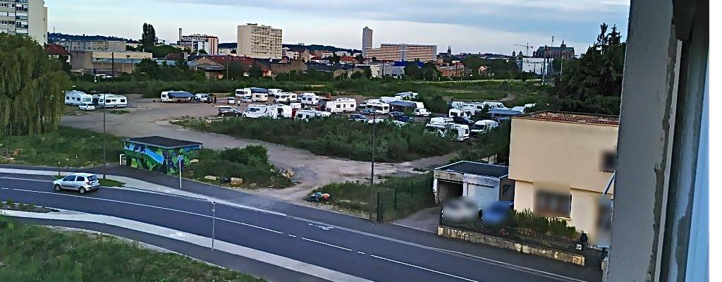 campement illégal arsenal III Metz Devant-les-Ponts