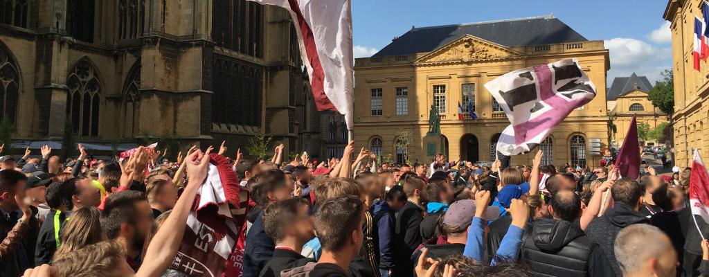FC Metz fêté sur la place d'Armes pour la montée en Ligue 1