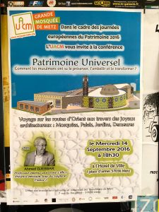 Conférence inaugurale des Journées du patrimoine à Metz