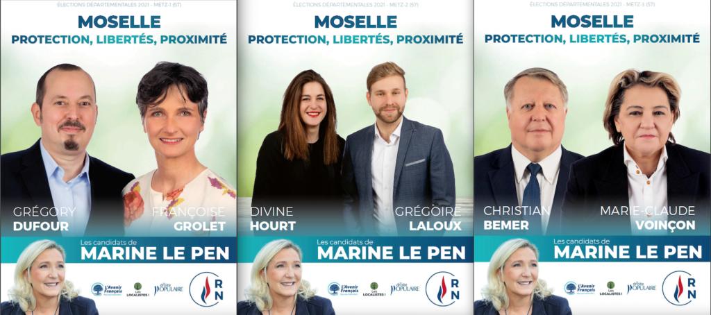 Metz 1 Metz 2 Metz 3 : les candidats RN aux élections départementales 2021